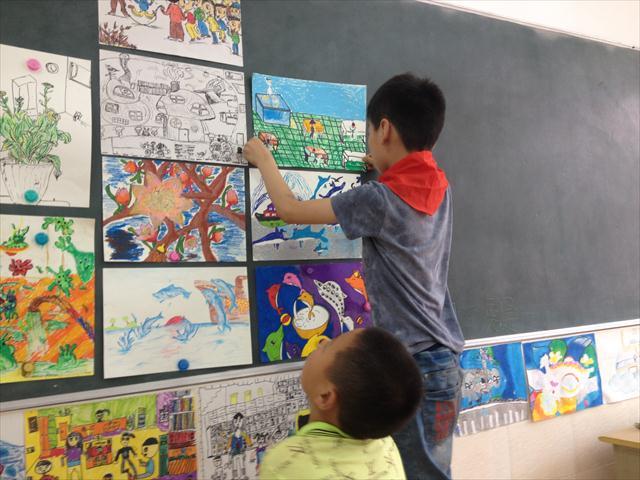 让我们画画快乐的校园生活