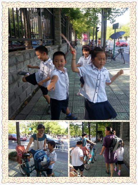 低碳生活走路_强恕学校走路去上学低碳生活我行动